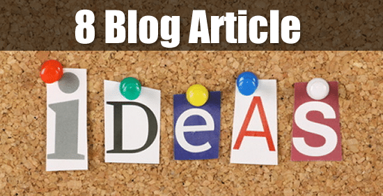 8 Ideas for Your Next Blog Post - by Michigan Internet Marketer